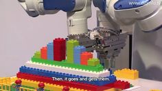 Not child's play ... Robots with 3D vision assemble LEGO blocks.