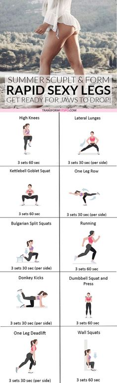 #womensworkout #workout #femalefitness Repin and share if this workout gave you rapid sexy legs! Click the pin for the full workout.