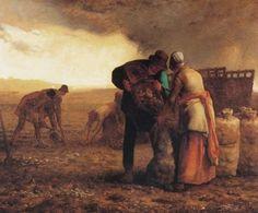 'récolte pommes de terre' de Jean-François Millet (1814-1875, France)