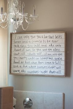 DIY Farmhouse Sign with Handwritten Wedding Song Lyrics - VINTAGE ROMANCE STYLE