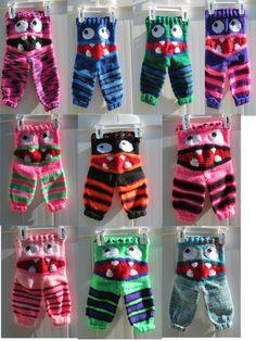 Monster Pants Newborn Monster Pants Knit Pants by RhondasReborns Knitting For Kids, Baby Knitting, Crochet Hooks, Knit Crochet, Upper Crust, American English, Knit Pants, Hat Sizes, Baby Booties