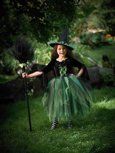 Gothic Witch Costume - Halloween Dark Lace Witch Tutu Dress by Ella Dynae, $190.00