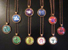 Magic The Gathering MTG Guild Symbol Glass Pendants