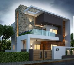 architecture design house. Exterior By, Sagar Morkhade (Vdraw Architecture) Architecture Design House