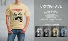 Kaos Distro Crying Face – 9GAG Series - PulauBelanja.Com