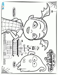 Free printable Vampirina Coloring Pages (10 pages