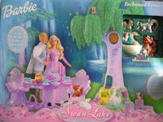 Barbie Swan Lake ENCHANTED FOREST Playset w 6 Animal Friends, Swing & MORE! (2003) by Barbie Mattel http://www.amazon.ca/dp/B01A9Q9PVE/ref=cm_sw_r_pi_dp_PbfXwb0M6PCN5