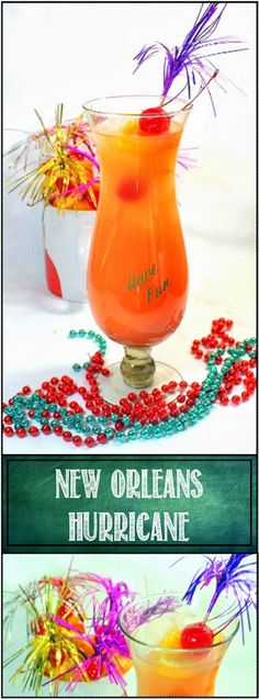 Florida Hurricane The legendary New Orleans Classic Tiki Cocktail with a Florida. - Florida Hurricane The legendary New Orleans Classic Tiki Cocktail with a Florida twist. New Orleans Hurricane, Florida Hurricane, Mardi Gras Drinks, Mardi Gras Food, Mardi Gras Party Theme, Mardi Gras Centerpieces, Mardi Gras Decorations, Mardi Gras Outfits, Mardi Gras Costumes