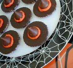 Witch Hats Cookies & Kisses _ #Halloween #Trick or Treat ##Goolish Goodies #Holiday Foods #Party