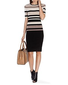 KAREN MILLEN Striped Knit Sweater Dress | Bloomingdale's