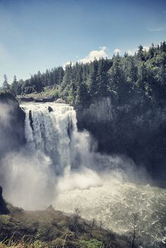 268 foot Snoqualmie Falls, just east of Seattle, Washington State