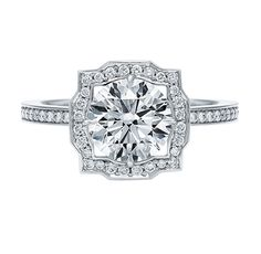 Belle by Harry Winston™, Round Brilliant Diamond Engagement Ring