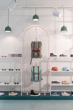 Milk shop – Retail design on Behance – Commercial Design Shop, Shoe Store Design, Retail Store Design, Retail Shop, Design Design, Commercial Interior Design, Interior Design Studio, Commercial Interiors, Thrift Store Furniture