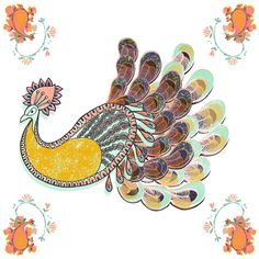 PAISLEY #PEACOCK by Catalina Villegas #illustration from #Colombia, #Latin America #Caribbean