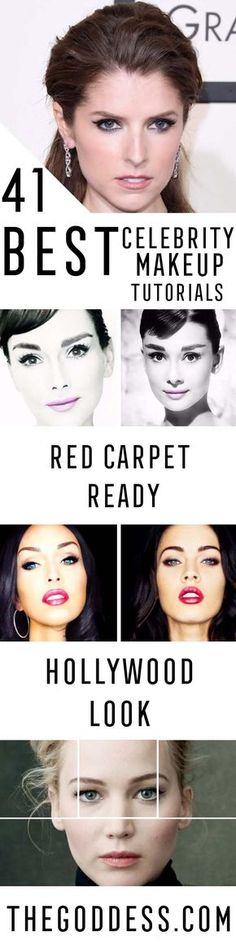 Best Celebrity Makeup Tutorials - Step By Step Youtube Videos, Tips and Beauty Secrets From All the Top Celebrities Like Kylie Jenner, Taylor Swift and Ariana Grande - Hair Style Ideas, Eyeliner and Eyebrow Tricks and How To Get Perfect Kat Von D Hairstyles - thegoddess.com/celebrity-makeup-tutorials