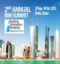 2nd Annual Building Information Modeling Summit, Doha, Qatar 2013 - http://bimoutsourcing.com/2nd-Annual-BIM-Summit-Qatar-2013.php