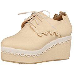 Partiss Damen Japanisch Suess High-top Boots Casual Schuhen Lolita Pumps Herbst Fruehling Wedge Platform Pumps Spring Shoes Plateauschuhe fuer Hochzeit Tanzenball Maskerade,CN34,Beige Partiss http://www.amazon.de/dp/B01D439SSO/ref=cm_sw_r_pi_dp_vc36wb0XCM2ZD