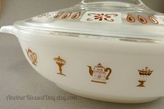 Vintage Glasbake Casserole 1 qt. J2274 by AnotherBlessedDay, $15.00