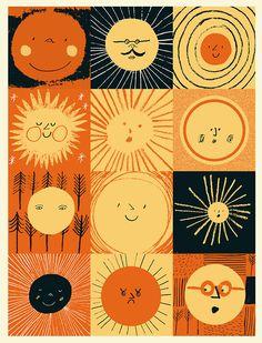 Creative Kids, Rob, Hodgson, and Illustration image ideas & inspiration on Designspiration Sonne Illustration, Cute Illustration, Landscape Illustration, Sun Moon, Stars And Moon, Arte Peculiar, Sun Art, Art Graphique, Mellow Yellow