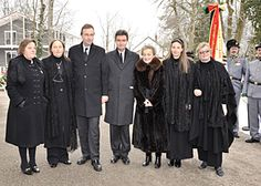 Seven grandson of the last emperor of Austria, Charles I - the children of Otto and Regina Habsburg: Andrea, Monika, Charles, George, Michaela, Gabriela and Walburga (from left, in February 2010..).