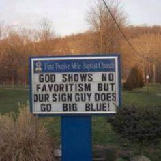 God is a Kentucky Fan!