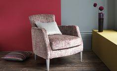 Parada Wingback Chair, Armchair, Romo Fabrics, Velvet Upholstery Fabric, Fabric Design, Accent Chairs, Living Room, Florida Living, Peony