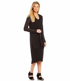 NWT Eileen Fisher Twisted Tencel Lyocell Pointelle Knit Cardigan Ash/ Black XS #EileenFisher #Cardigan