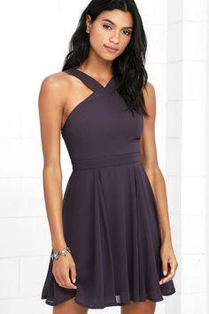 96a8e94ae6ed Forevermore Dusty Purple Skater Dress 1 Skater Dresses