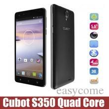 Cubot S350 5.5 Android 4.4 Cell Phone MTK6582 Quad Core 3G Phone 13MP 2GB RAM 16GB ROM 3G WIFI GPS Smartphone from Easycome,$120.41
