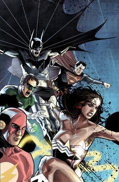Superman, Batman, Wonder Woman, Green Lantern & Flash