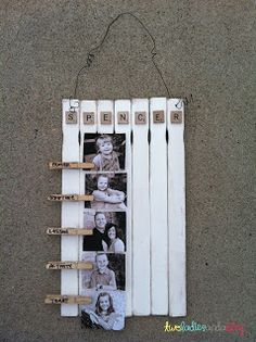 Family Home Evening Chart out of clothes pins and paint sticks