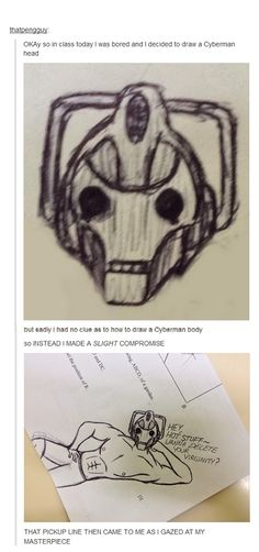 That is one sexy Cyberman.>>>> OMFG MY FAMily is looking at me funny lol My Tumblr, Tumblr Funny, Funny Memes, Gabe The Dog, Dr Who, Superwholock, In This World, Nerdy, Pokemon