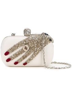 ALEXANDER MCQUEEN  'Skull' box clutch                                                                                                                                                                                 More