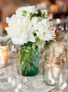 mason jar bridal shower flower arrangements | Admin August 3, 2013 Comments Off