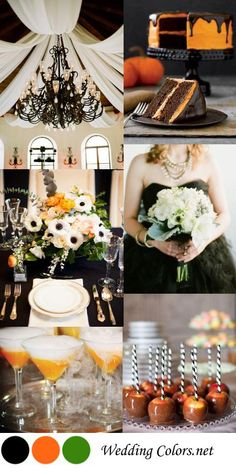 Happy Halloween! Black & Orange Halloween Wedding Ideas