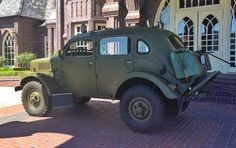 """1956 Volvo TP21/P2104 Sugga (chassis 21-257) is number 257 of 720 total built from 1953 to 1958 and is currently said to be in very good running and driving condition following a well-maintained early '80s restoration. Designed by Volvo for use by the Swedish armed forces, these four wheel drive, six-cylinder vehicles were nicknamed Sugga or """"sow"""" for their bluff, porcine nose and squat, rounded bodywork."""