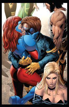 scott summers*cyclops and jean grey Arte Dc Comics, Marvel Comics Art, Marvel Comic Universe, Bd Comics, Marvel X, Comics Girls, Marvel Heroes, Cyclops X Men, Marvel Women