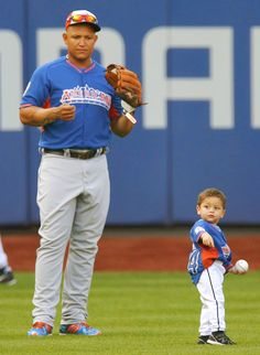 Miggy & his son Christopher during the 2013 MLB All-Star Game