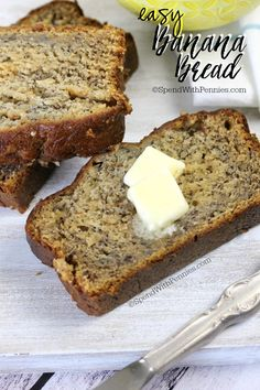 Easy Banana Bread Pin it to your BREAKFAST BOARD to SAVE it for later! Follow Spend With Pennies on Pinterest for more great tips, ideas and recipes! You will love this easybanana bread recipe! Not only is it completely moist and delicious, it takes just 10 minutes to prepare! If your family doesn't like nutsContinue Reading...