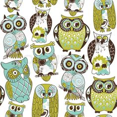 Stock Vector Of Seamless Owl Pattern