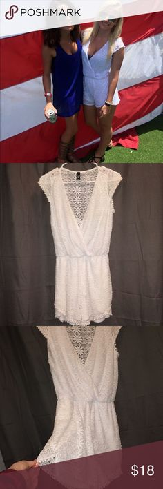 White flower romper Adorable flower romper, not see thru. Size small Windsor Other