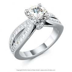 Diamond Platinum Engagement Ring Spirit