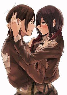 Eren x Mikasa Mikasa Anime, Mikasa X Eren, Attack On Titan Eren, Attack On Titan Ships, Levi Squad, Phone Wallpaper Images, Rivamika, Eremika, Hyouka