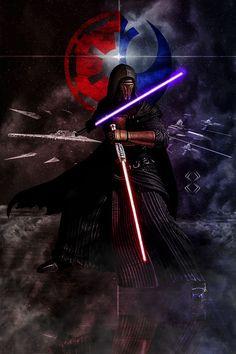 Star Wars Darth Revan, Star Wars Sith, Darth Vader, Clone Wars, Star Trek, Images Star Wars, Star Wars Pictures, Star Wars Concept Art, Star Wars Fan Art