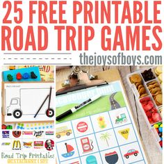 Keep your kids entertained on your next road trip with these Free Printable Road Trip Games. Print out, laminate and keep in the car for hours of fun.