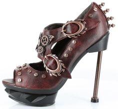 Amazon.com: 5 Inch Sky Captain Peep Toe Mary Jane Pump in Burgandy: Shoes