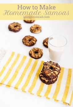 Homemade Girl Scout Cookie Samoas Recipe