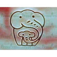 Madre y niño, sello de elefante  -  Mother and child, elephant stamp