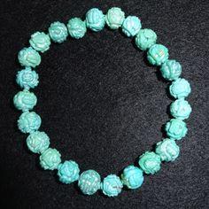 :-) Turquoise bead bracelet for sale :-) HappyFace313