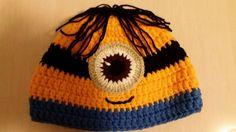 Touca de crochet dos Minions.